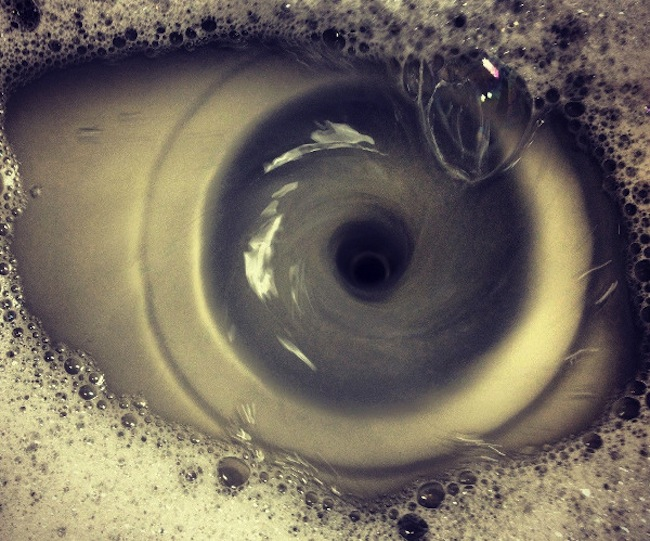 eyeball drain An eyeball watches you from lifes plug hole (photo)