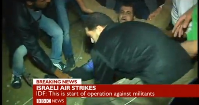 hamas fake bbc Israel watch: BBC broadcasts fake Hamas injury as fact