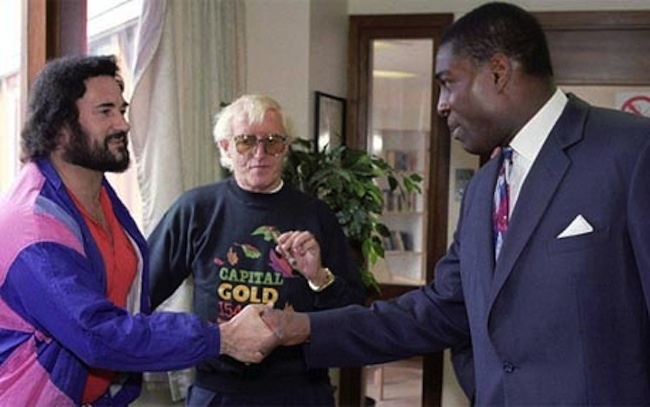 jimmy savile peter sutclife That photo of Frank Bruno, Peter Sutcliffe and Jimmy Savile