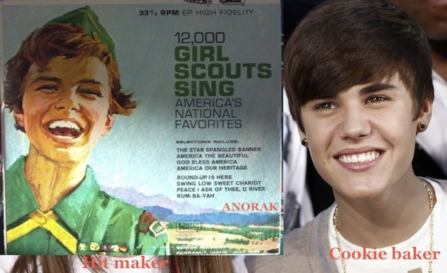 justin bieber girl scout Justin Bieber releases album for Americas Girl Scouts 
