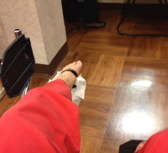 key foot 1 So. You got a car key stuck in your foot (photos)