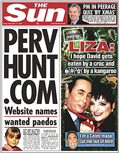paedo sun 3 Irony overload: The Sun berates the BBC and the Guardian for whipping up paedo hysteria