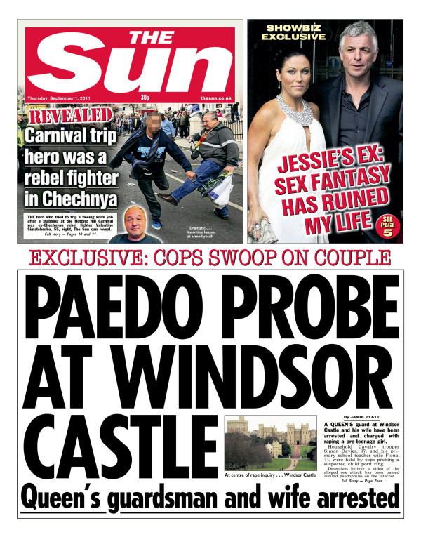 paedo sun 5 Irony overload: The Sun berates the BBC and the Guardian for whipping up paedo hysteria