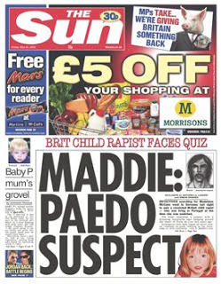 paedo sun 6 Irony overload: The Sun berates the BBC and the Guardian for whipping up paedo hysteria