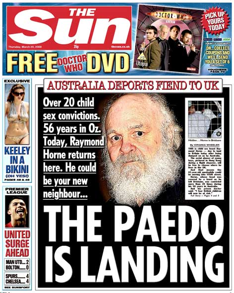 paedo sun Irony overload: The Sun berates the BBC and the Guardian for whipping up paedo hysteria