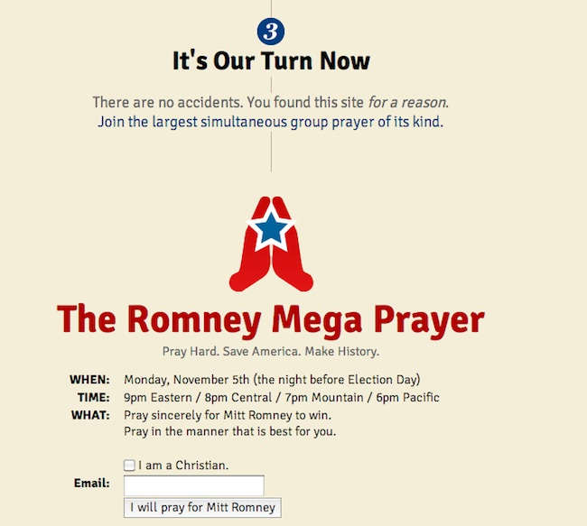 pray for mitt romney 5 Joins us for the Mitt Romney Mega Prayer 
