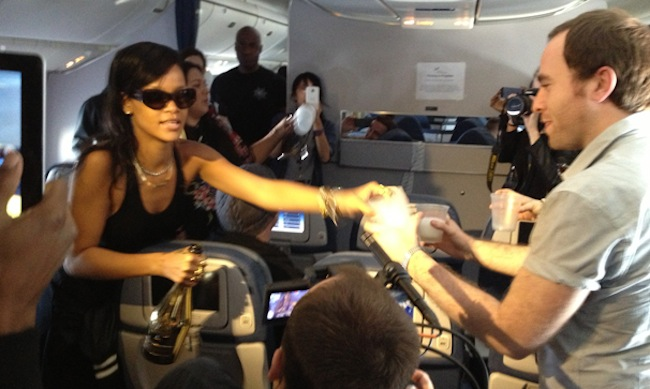 rihanna plane plastic Rihanna: 777 tour fizzes out in plastic cups