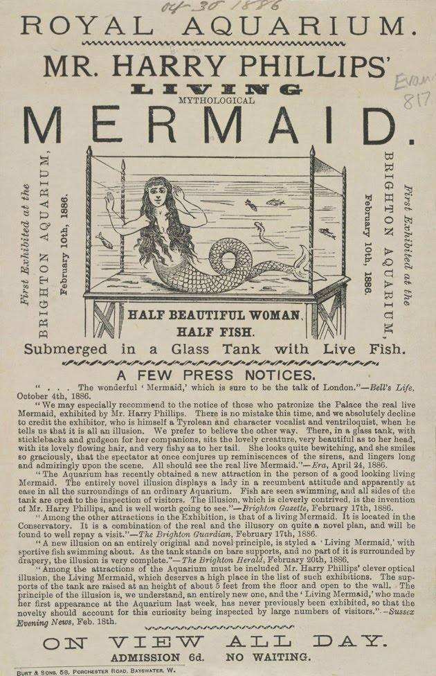 royal aquarium mermaid Highlights from the Victorian circus freak show (posters)