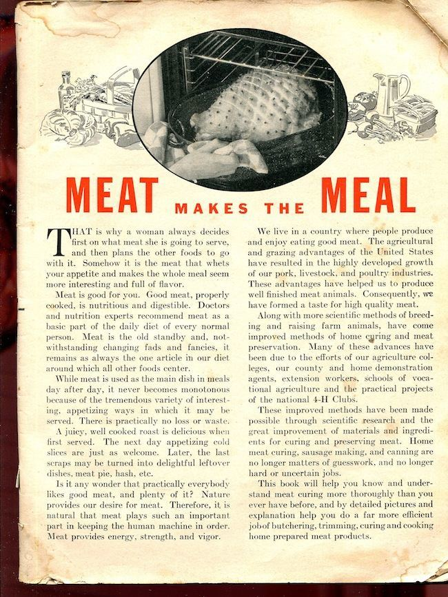 HomeMeatCuringMadeEasy 1941: Home Meat Curing Made Easy (with Pig FISTING)