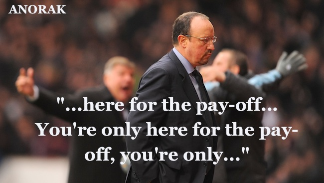 PA 15279093 Chelsea: Rafa Benitez delighted to edge closer to pay off and sack