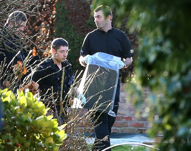 PA 15315206 Hide the sausages: Stuart Hall arrested