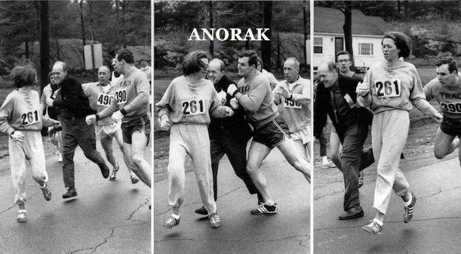 PA 4906130 1967 Boston Marathon: Kathrine Switzer breaks the sex race