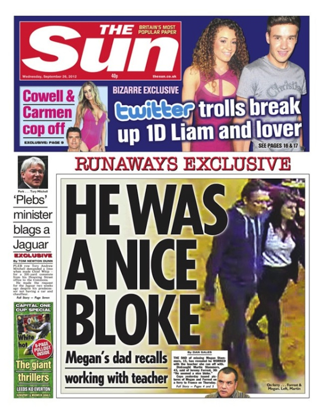 Sun pleb sep 26 Plebgate: The Sun and the police used Andrew Mitchell to escape Hillsborough
