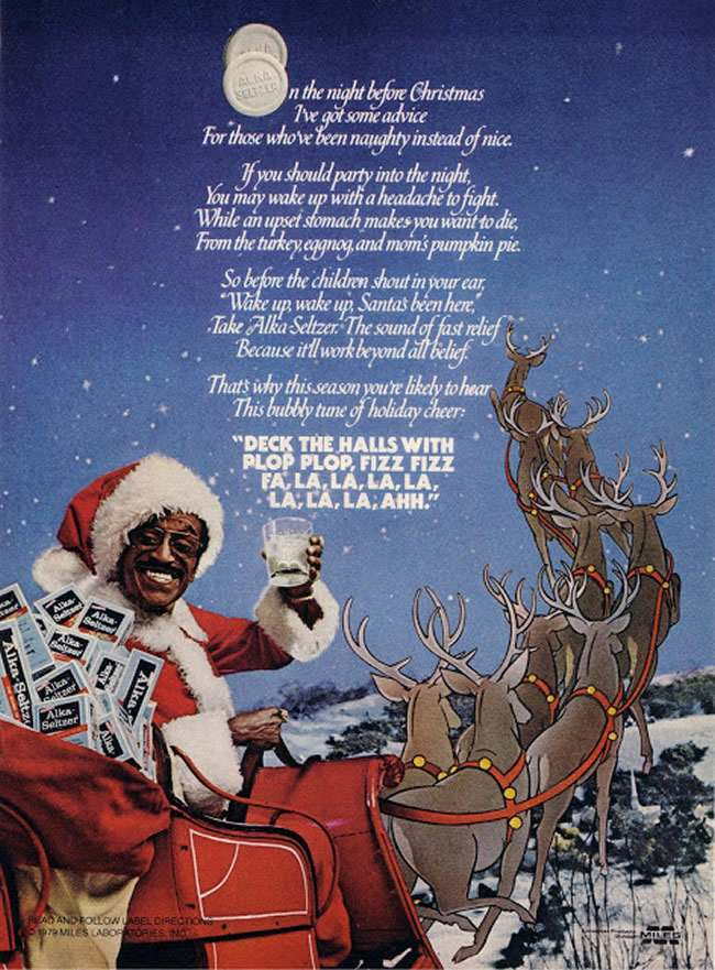 alka seltzer sammy xmas 2 1978: have yourselves a Sammy Davis Christmas with Alka Seltzer