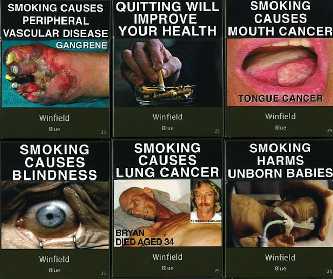 cigarettes australia New cigarette packets in Australia glorify death and disease