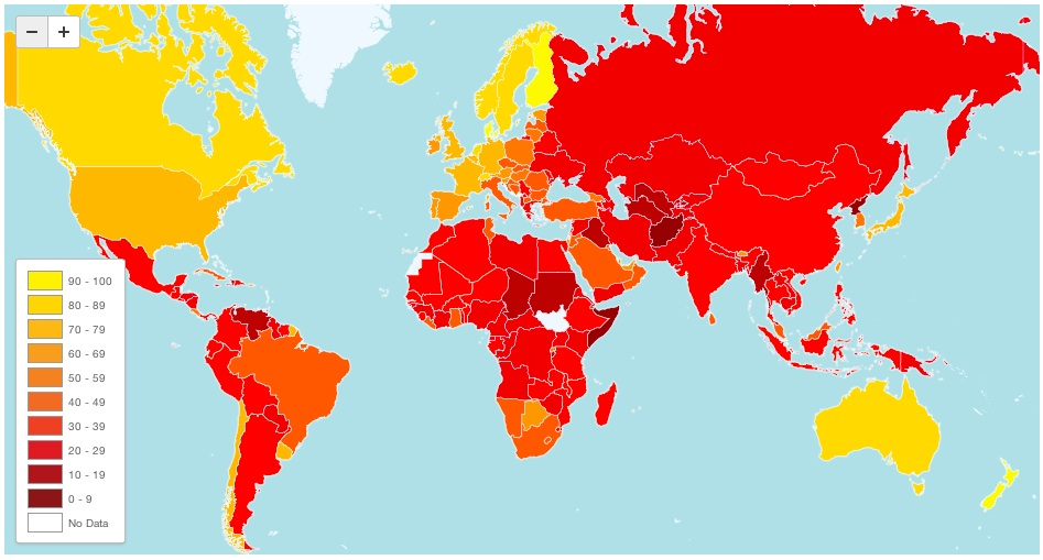 corruption Denmark is worlds least corrupt country