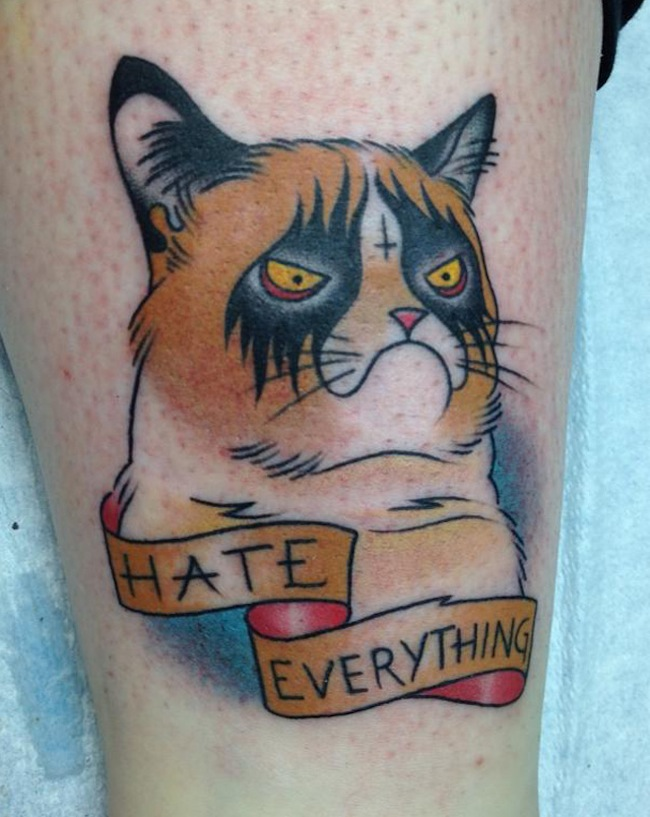 grumpy cat tattoo So. You got a Grumpy Cat Tattoo