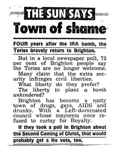 kelvin mackenzie brighton Hurrah for Kelvin MacKenzie the Southern Party ponce unafraid to be recognised as a tabloid hero