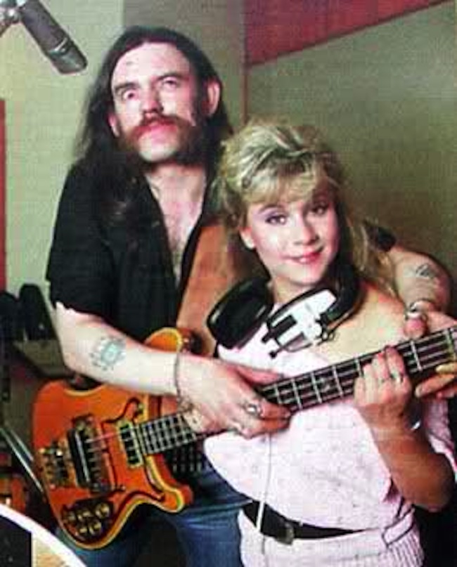 lemmy sam fox 2 When Lemmy met Samantha Fox   the photos