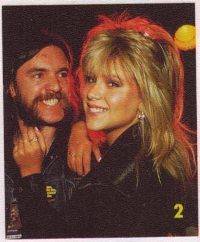 lemmy sam fox 3 When Lemmy met Samantha Fox   the photos