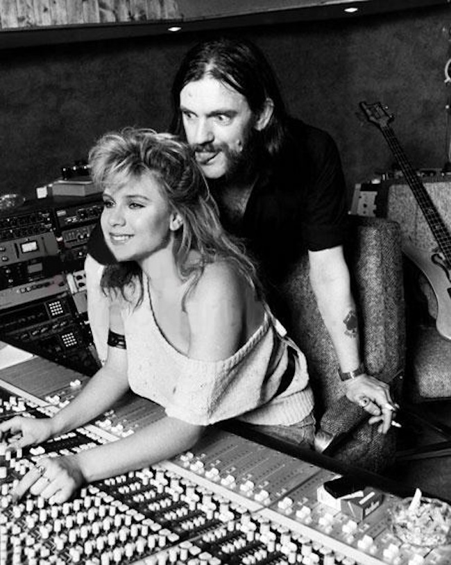 lemmy sam fox 4 When Lemmy met Samantha Fox   the photos