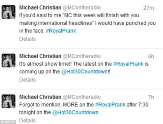 michael christian prank1 What killed Jacintha Saldanha? Kate Middletons pranked nurse is dead