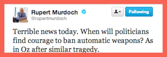 murdoch sandy hook Sandy Hook Elementary School: Rupert Murdochs wants better gun control   his bodyguards agree