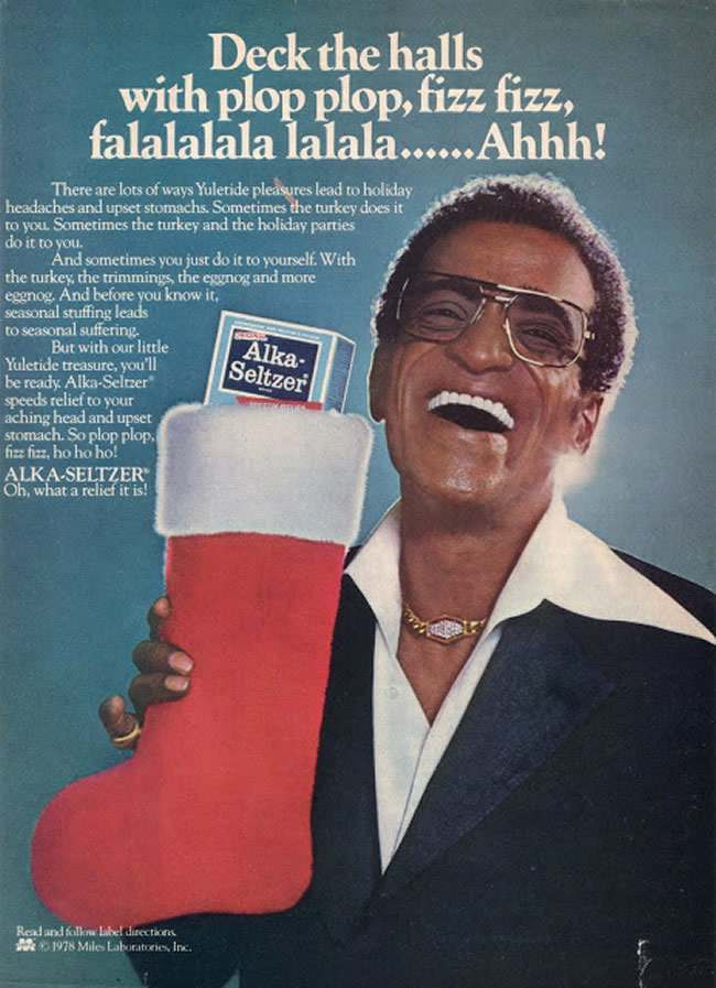 sammy d 1978: have yourselves a Sammy Davis Christmas with Alka Seltzer