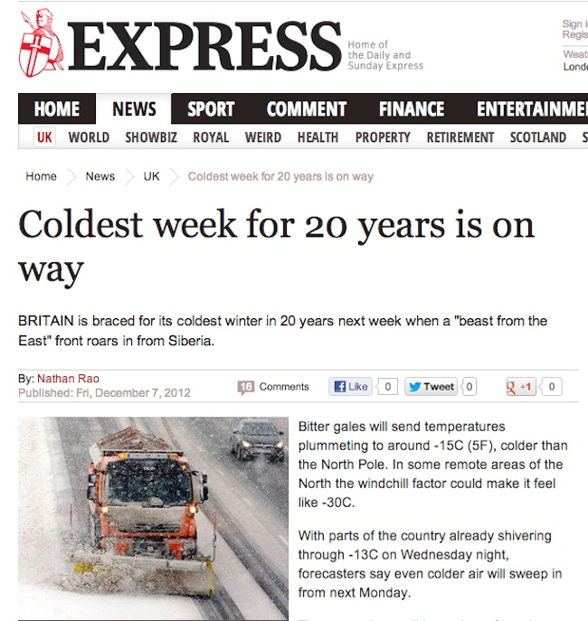 Daily Express snow plough Daily Express sees double snow ploughs in Cumbria