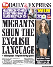 Daily Express newspaper front page Daily Express to launch Polish language edition for lazy foreigners