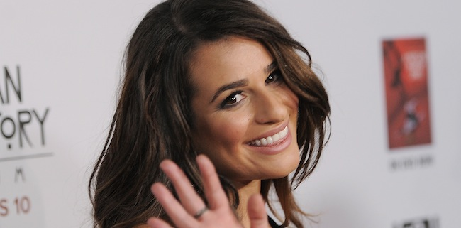 PA 14881408 Lea Michele is Uriah Heep with LOreal glossed hair