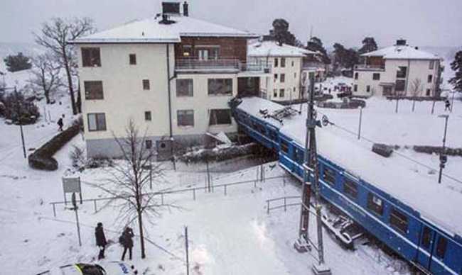 Stockholm train Woman drove stolen train into apartment block 