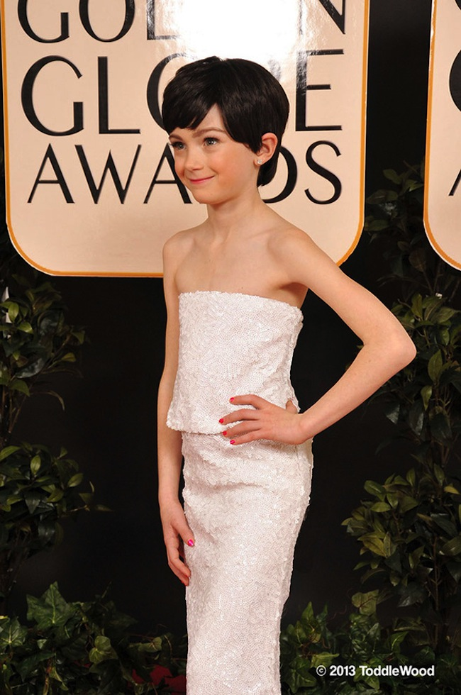 anne hathaway mini ToddleWood: Hollywoods mini stars hits the Golden Globes red carpet