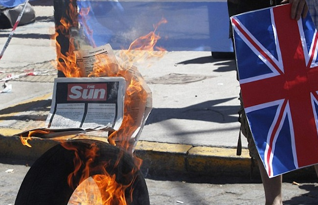 argenina malvinas letter sun 2 Falklands Fake? Who were the Suns furious Argies seen burning Union flags in Buenos Aires?