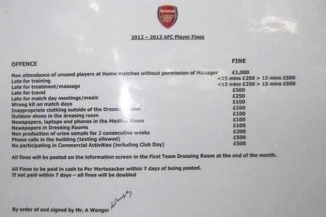 arsenal fines  Arsenal fine sheet leaks online: Mertesacker plays the German banker