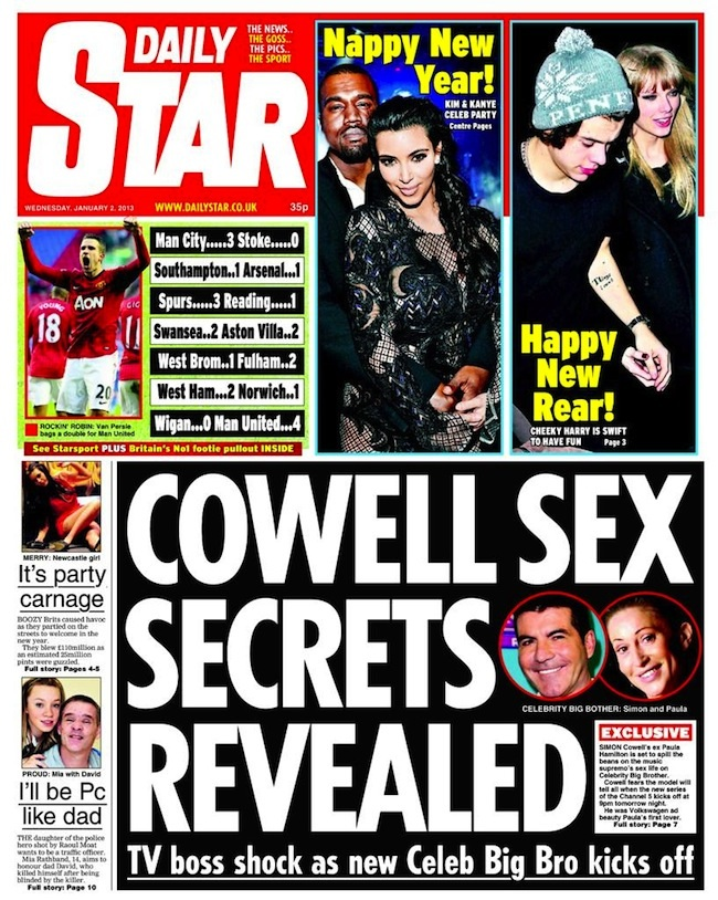 cowell sex 1 Simon Cowells sex secrets remain secret on Celebrity Big Brother 
