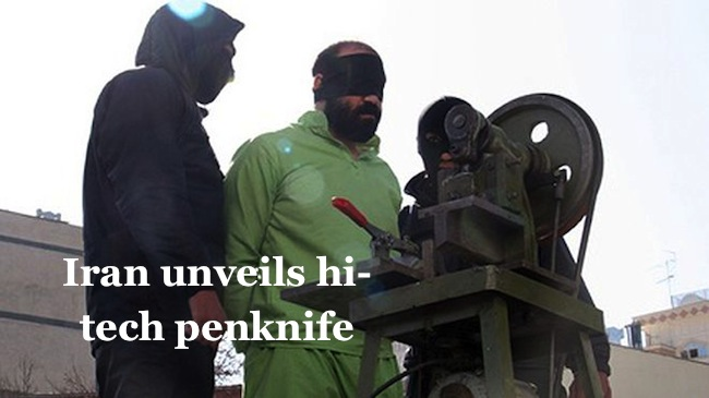 hands1 Go ahead Iran invents machine to decapitate fingers and fires monkeys at Israel
