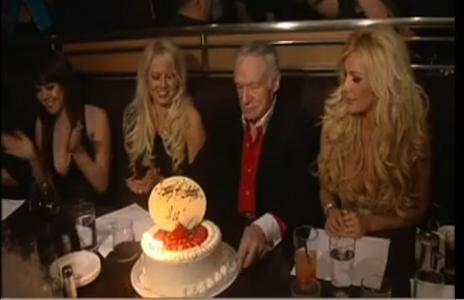 hef cake 4 Hugh Hefner in birthday cakes: the sponge and Viagra icing photos