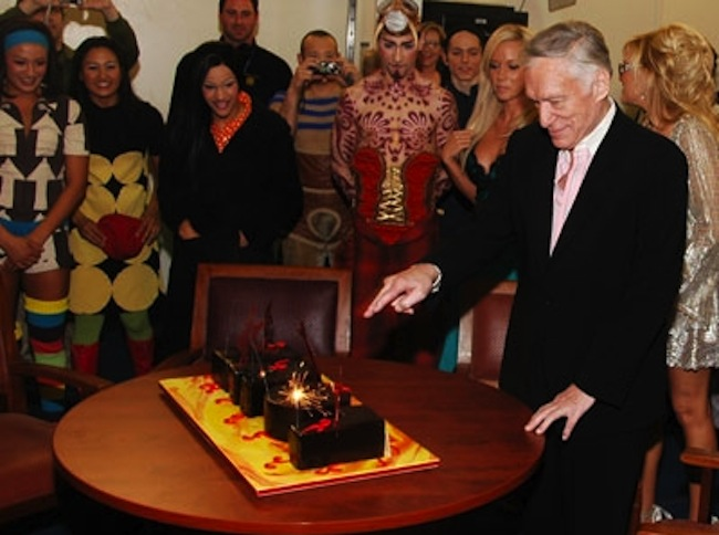 hef cake Hugh Hefner in birthday cakes: the sponge and Viagra icing photos