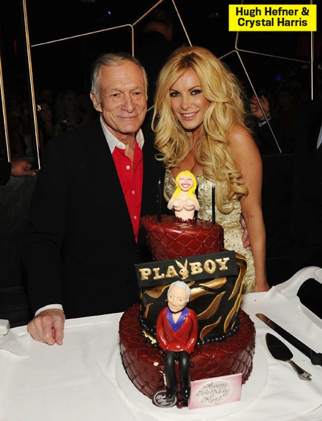 hefner cake Hugh Hefner in birthday cakes: the sponge and Viagra icing photos