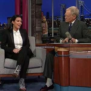 kim kardashian david letterman Kim Kardashian talks but her great big hipsy wedding fraud