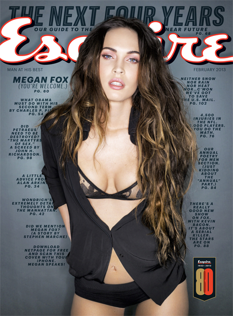 megan fox Megan Fox is an Aztec visual labyrinth in Esquires worst article EVER!
