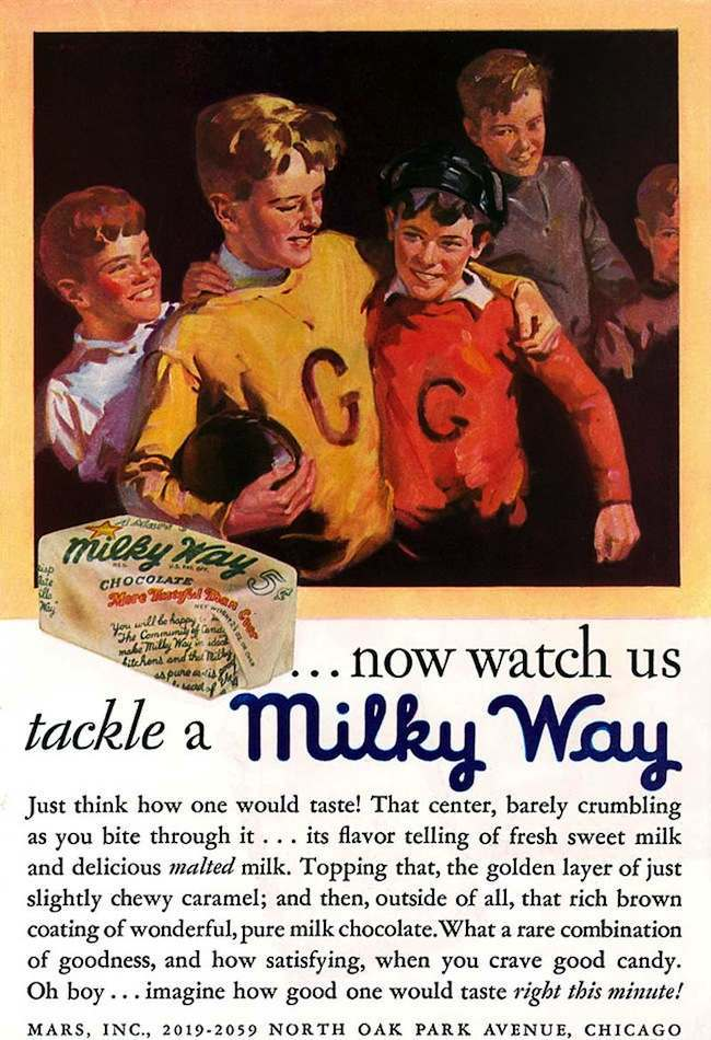 milky way Vintage ads: The Milky Way in 1930