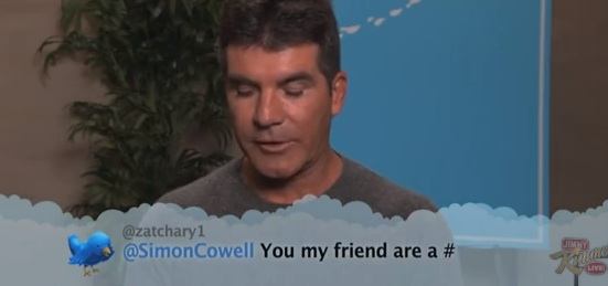 simon cowell reads twitter Simon Cowell and other celebs read out Twitter insults on video