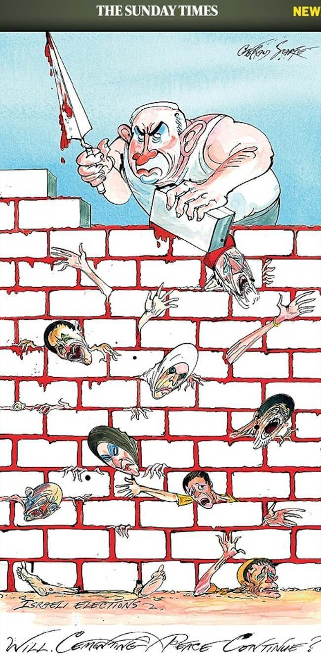 sunday times jews1 These controversial cartoons get you killed: the bravest and most wrong satire
