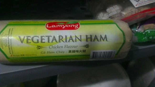 vegetarian ham chicken Pointless vegetarian foods: ham that tastes like chicken