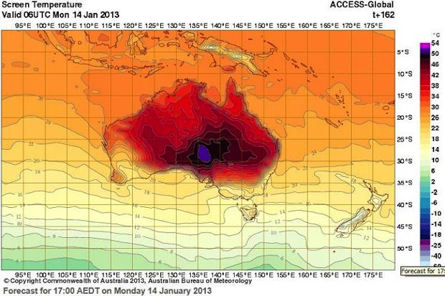 weathermap 371983c Tasmania bushfires: its not humanity and climate change   its just one careless man