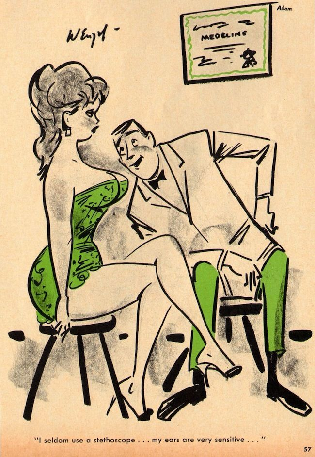 Adam Nov1965 Vol9 No11 018 Saucy cartoon jokes in vintage adult girlie magazines