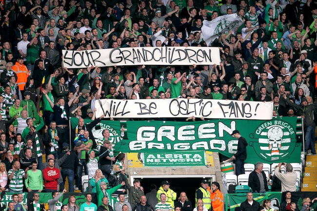 PA 13607878 Celtic FCs Green Brigade are victims of the war on free speech