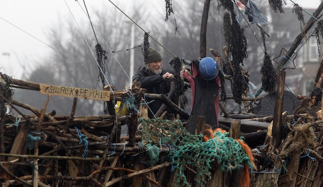 PA 15749321 Frank Lunds New Brighton pirate ship made from Mersey driftwood and other washed up stuff (photos)